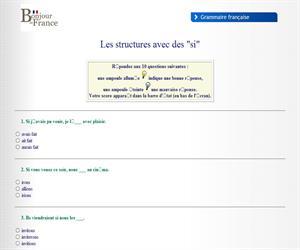 Test de comprensión de los condicionales en francés (bonjourdefrance.com)