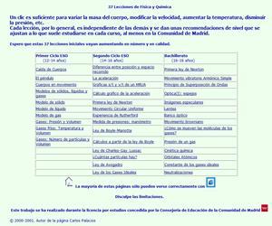 37 Lecciones de Física y Química (ESO y Bachillerato)