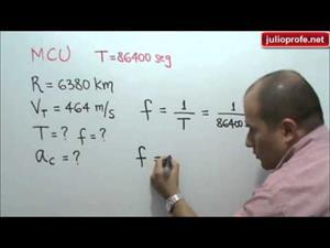 Problema 4 sobre Movimiento Circular Uniforme (JulioProfe)