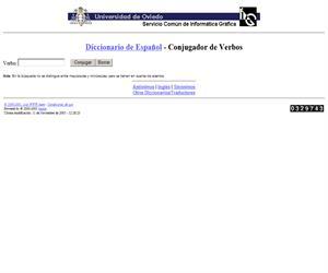 Conjugador de verbos (Universidad de Oviedo)