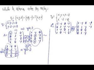 Distancia entre rectas en el espacio (Paralelas)