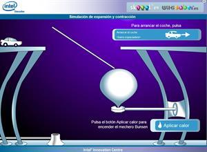 Skoool (TM) Lección. Expansión y contracción de sólidos, líquidos y gases