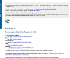 Traducción al castellano RDFa 1.1 Lite