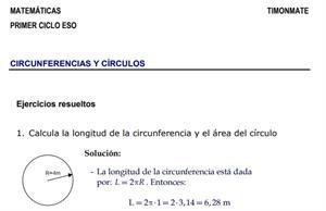 Ejercicios resueltos de circunferencias y círculos (Juan J. Pascual Redondo)