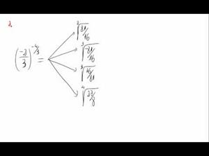 Potencias, signos negativos y exponente fraccionario  - Cuestión 2