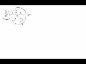 Dominio de una función - Cociente de polinomios