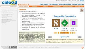 Funciones exponenciales y logarítmicas (cidead)