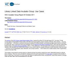 Library Linked Data Incubator Group: Use Cases