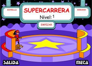 """Carrera de la """"b"""" y la """"v"""", un juego de ortografía de supersaber.com"""