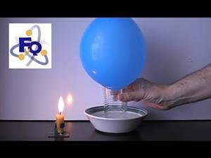 Experimentos de Física y Química (teoría cinética): 'No lo deja caer'