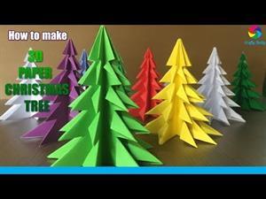 Árbol de Navidad de Origami. 3D Paper Christmas Tree. Videotutorial