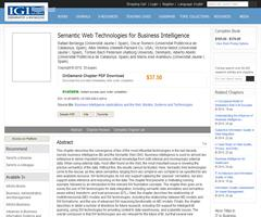 Semantic Web Technologies for Business Intelligence | IGI Global