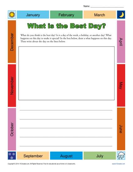 Writing Prompt – What Is the Best Day?