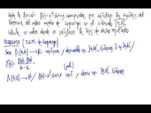 Teorema del valor medio de Lagrange