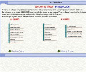 Colección de vídeos –  Conocimiento del Medio - 2º y 3º Ciclo de E. Primaria.