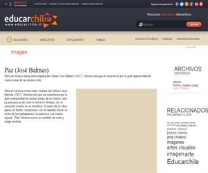 Paz (José Balmes) (Educarchile)