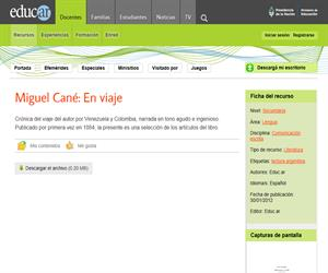 Miguel Cané: En viaje