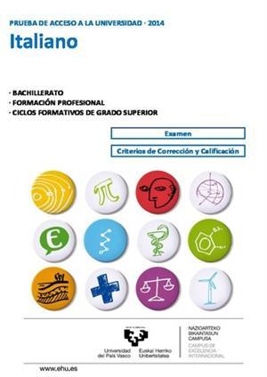 Examen de Selectividad: Italiano. País Vasco. Convocatoria Junio 2014
