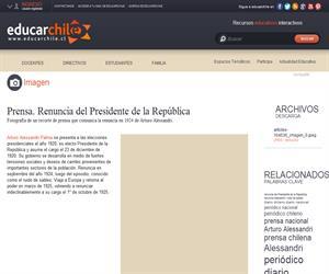 Prensa. Renuncia del Presidente de la República (Educarchile)