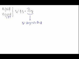 Plano perpendicular a vector pasando por punto