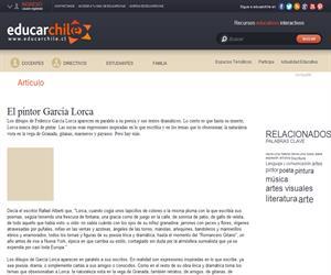 El pintor García Lorca (Educarchile)