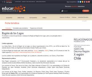 10ma Región División política administrativa (Educarchile)