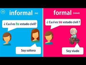 Formas de tratamiento formal e informal en español