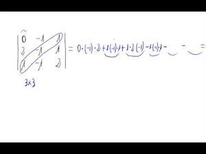Determinante 3x3 (Regla de Sarrus)