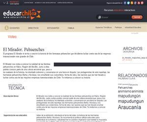 El Mirador. Pehuenches (Educarchile)