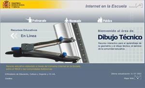 Área de dibujo técnico, material interactivo para bachillerato