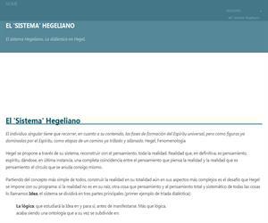 Apuntes de Filosofía: El Sistema Hegeliano