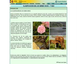 Clasificación de los seres vivos (Proyecto Biosfera)
