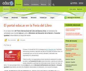 El portal educ.ar en la Feria del Libro
