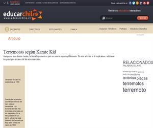 Terremotos según Karate Kid (Educarchile)