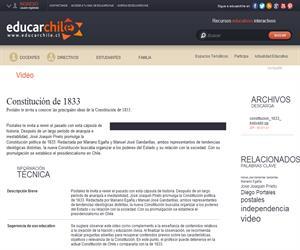 Constitución de 1833 (Educarchile)