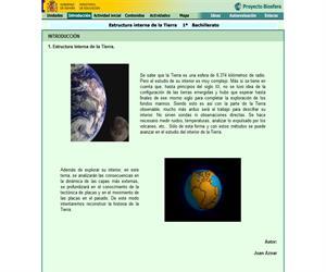 Estructura interna de la Tierra: unidad de Biología y Geología de 1º de Bachillerato