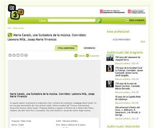Maria Canals, una lluitadora de la música. Convidats: Leonora Milà, Josep Maria Vivancos (Edu3.cat)