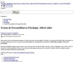 Teorías de Personalidad en Psicología: Alfred Adler