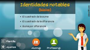 Identidades notables (básico) - Unidad interactiva