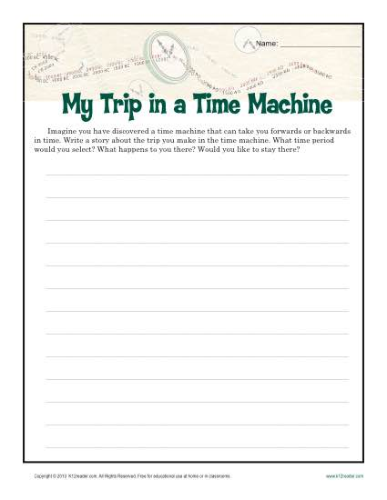 My Trip in a Time Machine – Writing Prompt