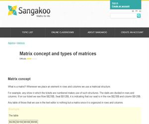 Matrix concept and types of matrices