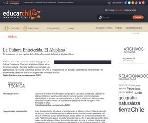 La Cultura Entretenida. El Altiplano (Educarchile)