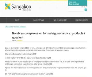 Nombres complexos en forma trigonomètrica: producte i quocient