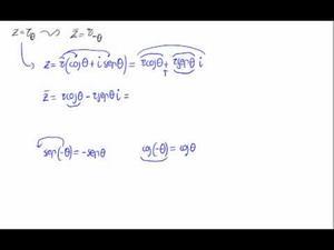 Conjugado de un número complejo en forma polar