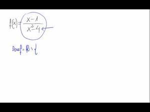 Dominio de una función (Cociente de polinomios)