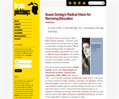 Susan Sontag's Radical Vision for Remixing Education | Brain Pickings