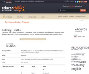 Listening: Health 4 (Educarchile)