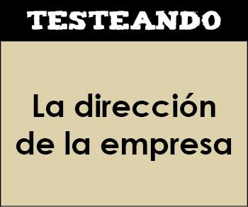 La dirección de la empresa. 2º Bachillerato - Economía de la empresa (Testeando)
