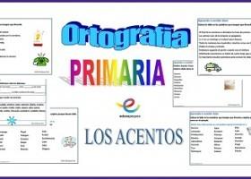 20 Fichas de ortografía para Primaria. Los acentos