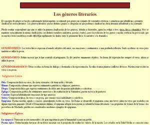 La literatura. Los géneros literarios